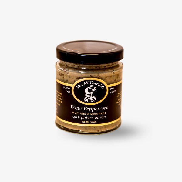 Mrs. McGarrigle's Wine Peppercorn Mustard