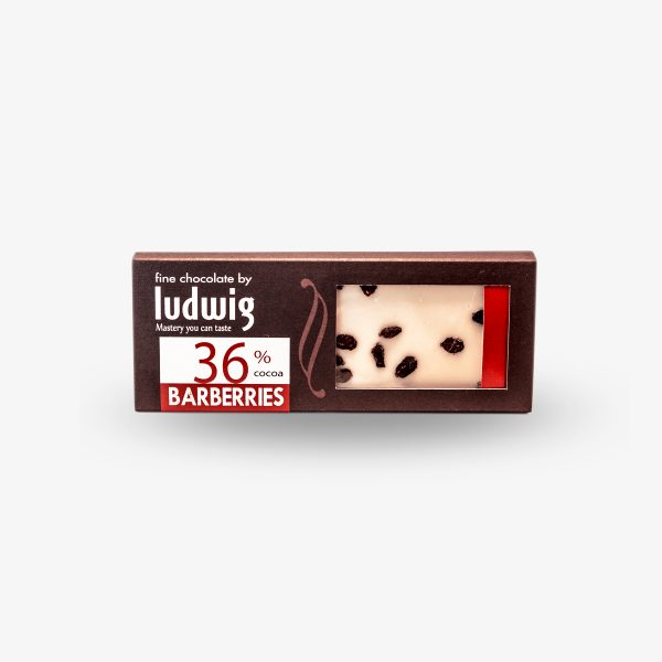 Ludwig Chocolate with Barberries, 36% Cocoa