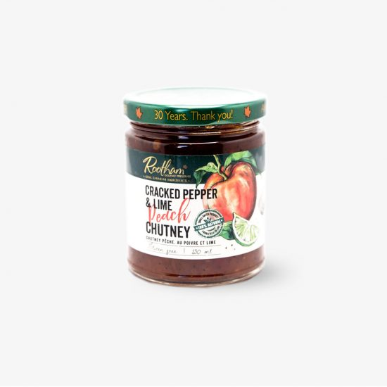 Rootham Gourmet Preserves Cracked Pepper & Lime Peach Chutney
