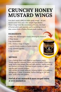 honey mustard chicken wing recipe